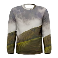 Agriculture Clouds Cropland Men s Long Sleeve Tee