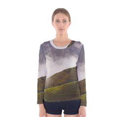 Agriculture Clouds Cropland Women s Long Sleeve Tee