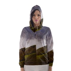 Agriculture Clouds Cropland Hooded Wind Breaker (women)