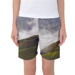 Agriculture Clouds Cropland Women s Basketball Shorts