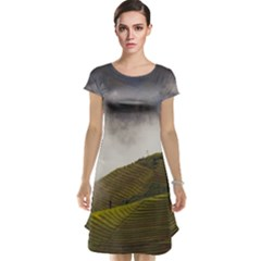 Agriculture Clouds Cropland Cap Sleeve Nightdress