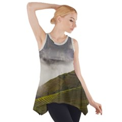 Agriculture Clouds Cropland Side Drop Tank Tunic