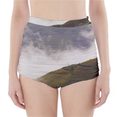 Agriculture Clouds Cropland High Waisted Bikini Bottoms