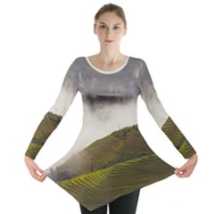 Agriculture Clouds Cropland Long Sleeve Tunic