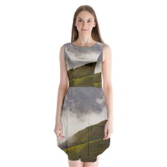 Agriculture Clouds Cropland Sleeveless Chiffon Dress