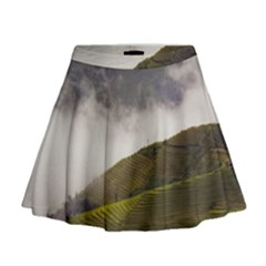 Agriculture Clouds Cropland Mini Flare Skirt
