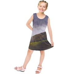 Agriculture Clouds Cropland Kids  Tunic Dress