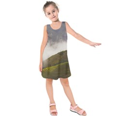 Agriculture Clouds Cropland Kids  Sleeveless Dress