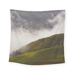 Agriculture Clouds Cropland Square Tapestry (small)