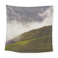 Agriculture Clouds Cropland Square Tapestry (large)