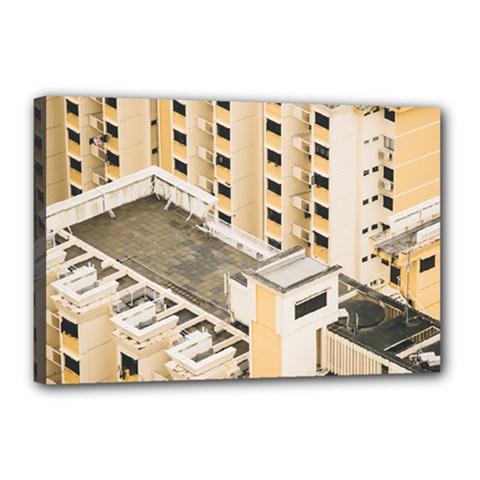 Apartments Architecture Building Canvas 18  X 12
