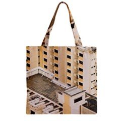 Apartments Architecture Building Zipper Grocery Tote Bag