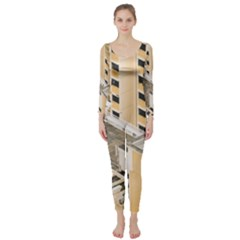 Apartments Architecture Building Long Sleeve Catsuit
