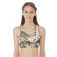 Apartments Architecture Building Sports Bra With Border