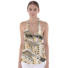 Apartments Architecture Building Babydoll Tankini Top