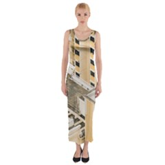 Apartments Architecture Building Fitted Maxi Dress