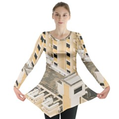 Apartments Architecture Building Long Sleeve Tunic
