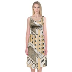 Apartments Architecture Building Midi Sleeveless Dress