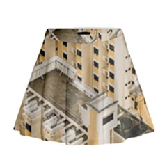Apartments Architecture Building Mini Flare Skirt