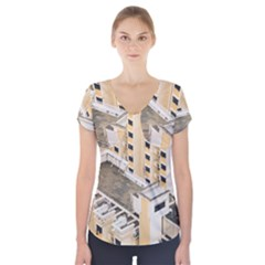 Apartments Architecture Building Short Sleeve Front Detail Top