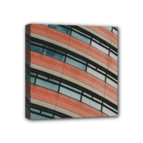 Architecture Building Glass Pattern Mini Canvas 4  X 4