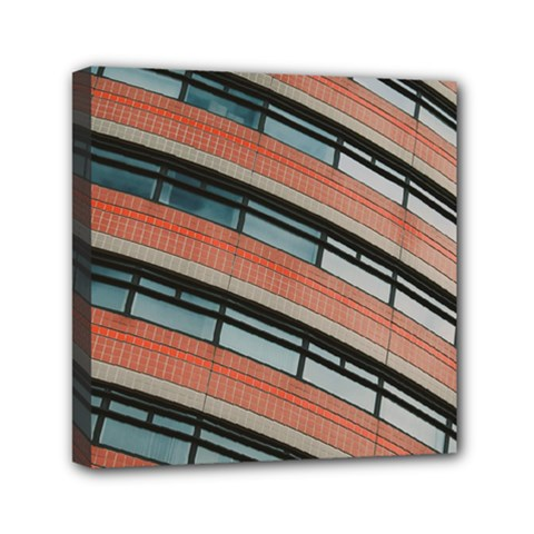 Architecture Building Glass Pattern Mini Canvas 6  X 6