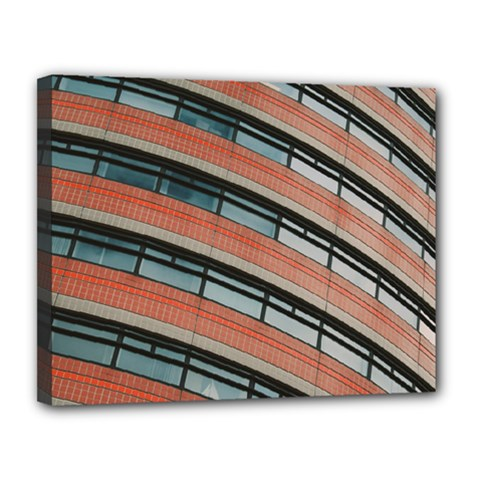 Architecture Building Glass Pattern Canvas 14  X 11