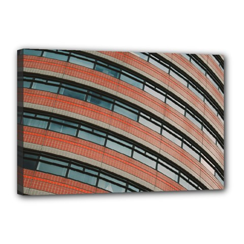 Architecture Building Glass Pattern Canvas 18  x 12