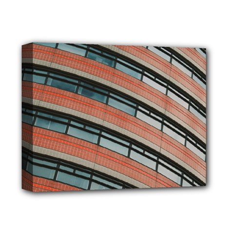 Architecture Building Glass Pattern Deluxe Canvas 14  X 11