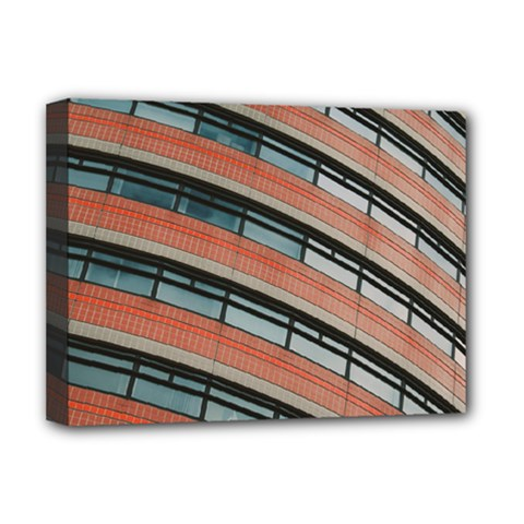 Architecture Building Glass Pattern Deluxe Canvas 16  X 12