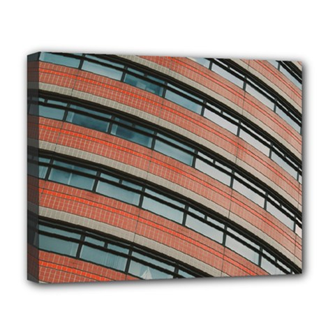 Architecture Building Glass Pattern Deluxe Canvas 20  X 16