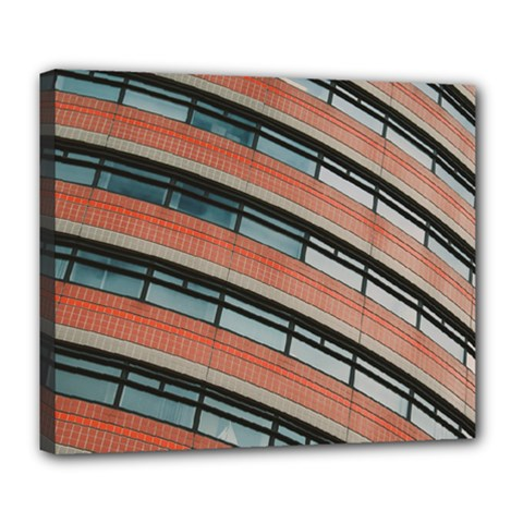Architecture Building Glass Pattern Deluxe Canvas 24  X 20
