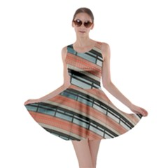Architecture Building Glass Pattern Skater Dress