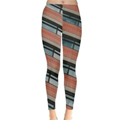Architecture Building Glass Pattern Leggings