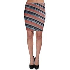 Architecture Building Glass Pattern Bodycon Skirt