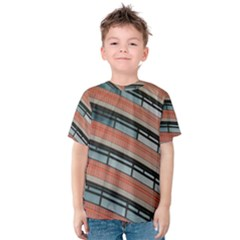 Architecture Building Glass Pattern Kids  Cotton Tee