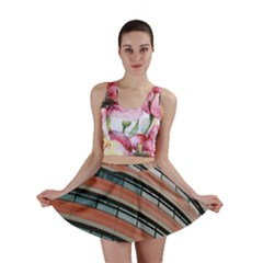 Architecture Building Glass Pattern Mini Skirt