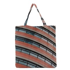 Architecture Building Glass Pattern Grocery Tote Bag