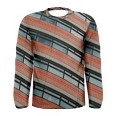 Architecture Building Glass Pattern Men s Long Sleeve Tee