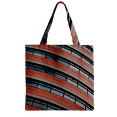 Architecture Building Glass Pattern Zipper Grocery Tote Bag