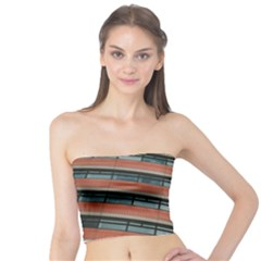 Architecture Building Glass Pattern Tube Top