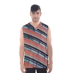 Architecture Building Glass Pattern Men s Basketball Tank Top