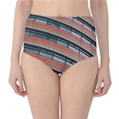 Architecture Building Glass Pattern High Waist Bikini Bottoms