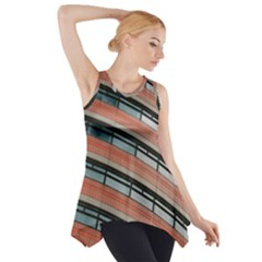 Architecture Building Glass Pattern Side Drop Tank Tunic