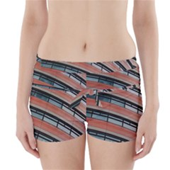 Architecture Building Glass Pattern Boyleg Bikini Wrap Bottoms