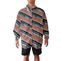 Architecture Building Glass Pattern Wind Breaker (kids)
