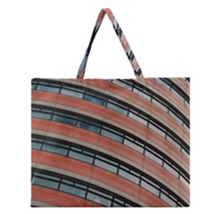 Architecture Building Glass Pattern Zipper Large Tote Bag