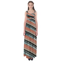 Architecture Building Glass Pattern Empire Waist Maxi Dress