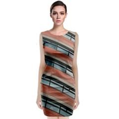 Architecture Building Glass Pattern Classic Sleeveless Midi Dress