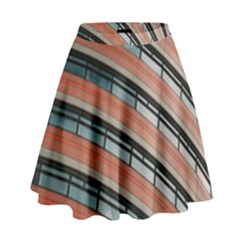 Architecture Building Glass Pattern High Waist Skirt